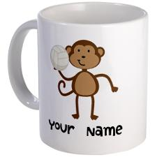 personalized_volleyball_monkey_mug